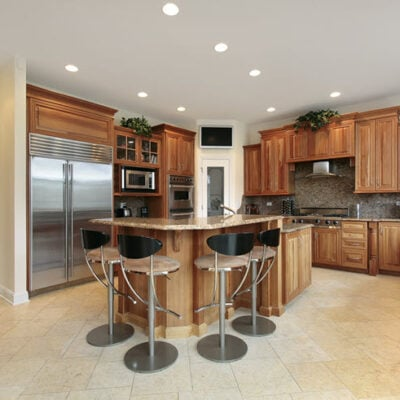 kitchen bar stools around island FEATURED