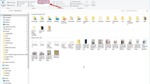 How To Easily Change Your Windows 10 Default Folder View